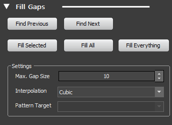Editor Tools showing Gap Fill Tab