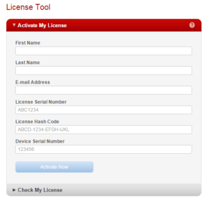 Online License Activation tool